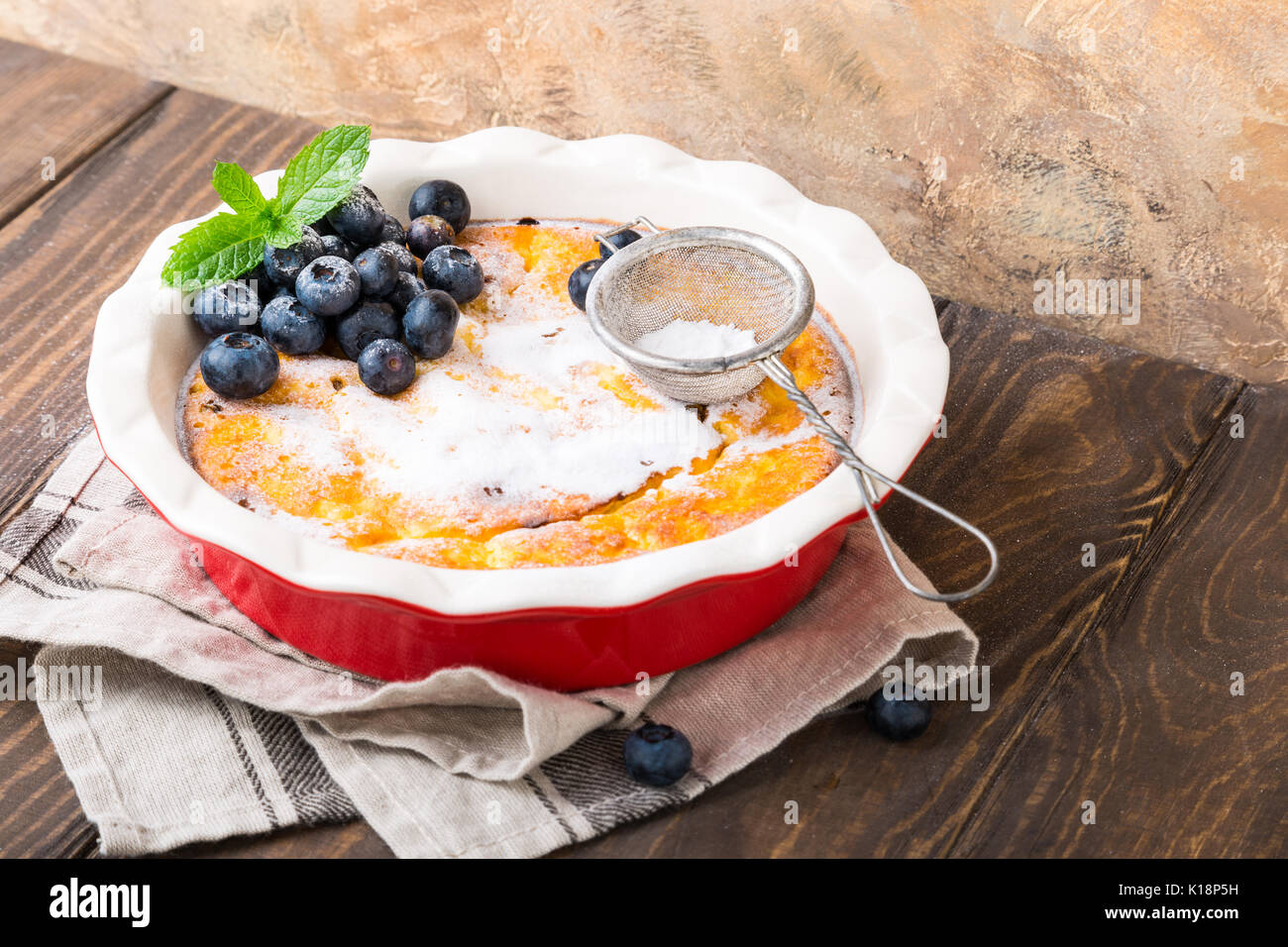 Delicious homemade cheesecake - Stock Image