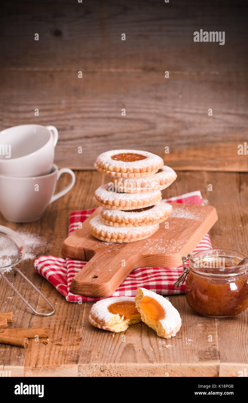 Teatime biscuits - Stock Image