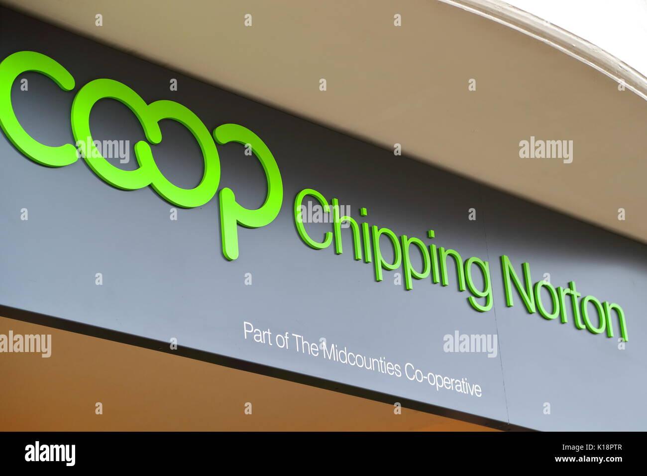 Coop at High Street, Chipping Norton, UK - Stock Image