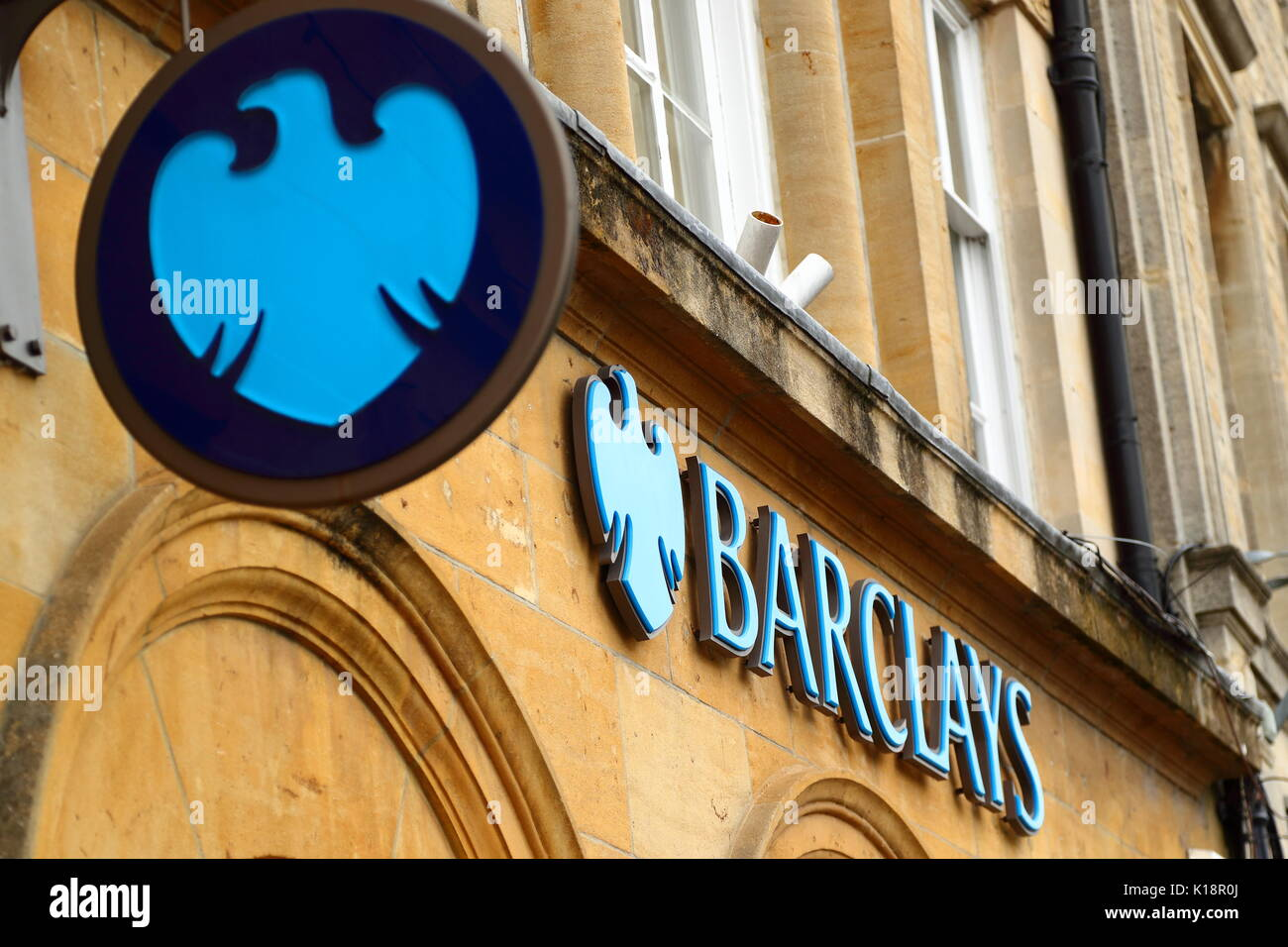 Barclays Bank in High Street, Chipping Norton, UK - Stock Image