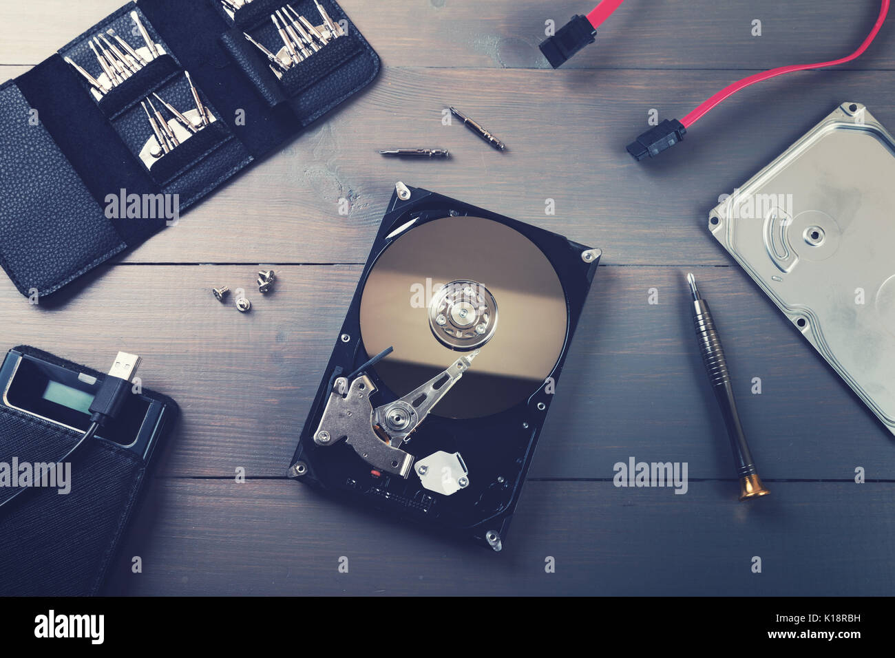computer hardware repair and service - Stock Image