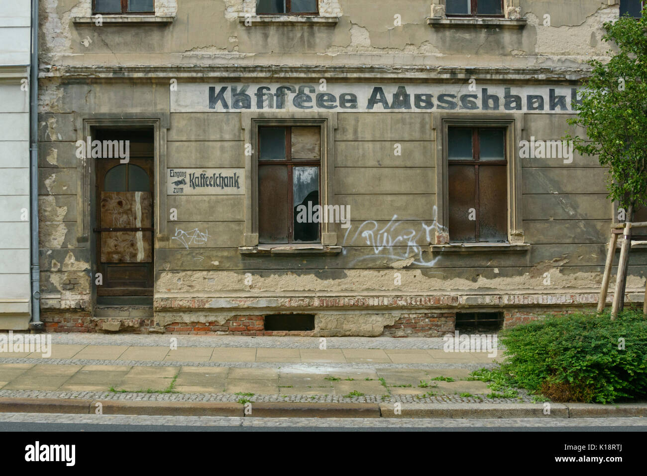 House entrance with old lettering, Görlitz, Germany - Stock Image