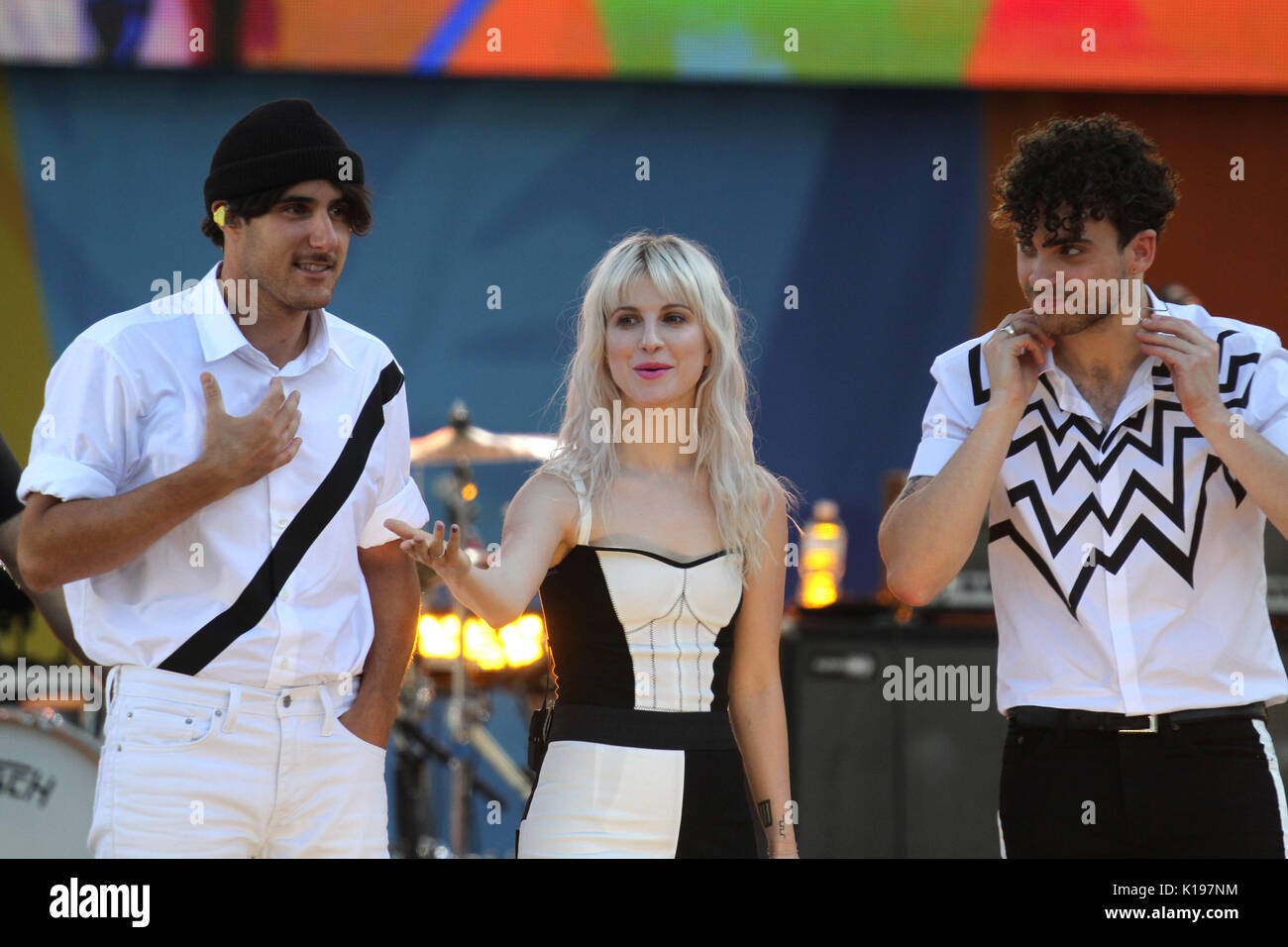 New York, New York, USA. 25th Aug, 2017. Paramore performs for Good Morning America Concert series in New York's Central .Park. Credit: Bruce Cotler/Globe Photos/ZUMA Wire/Alamy Live News - Stock Image