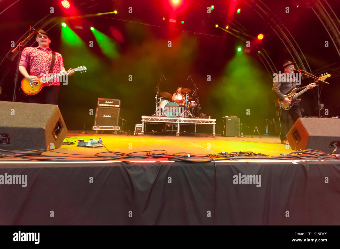 Belfast, Northern Ireland. 26/08/2017 - Punk band The Ruts play Custom House Square festival Stock Photo