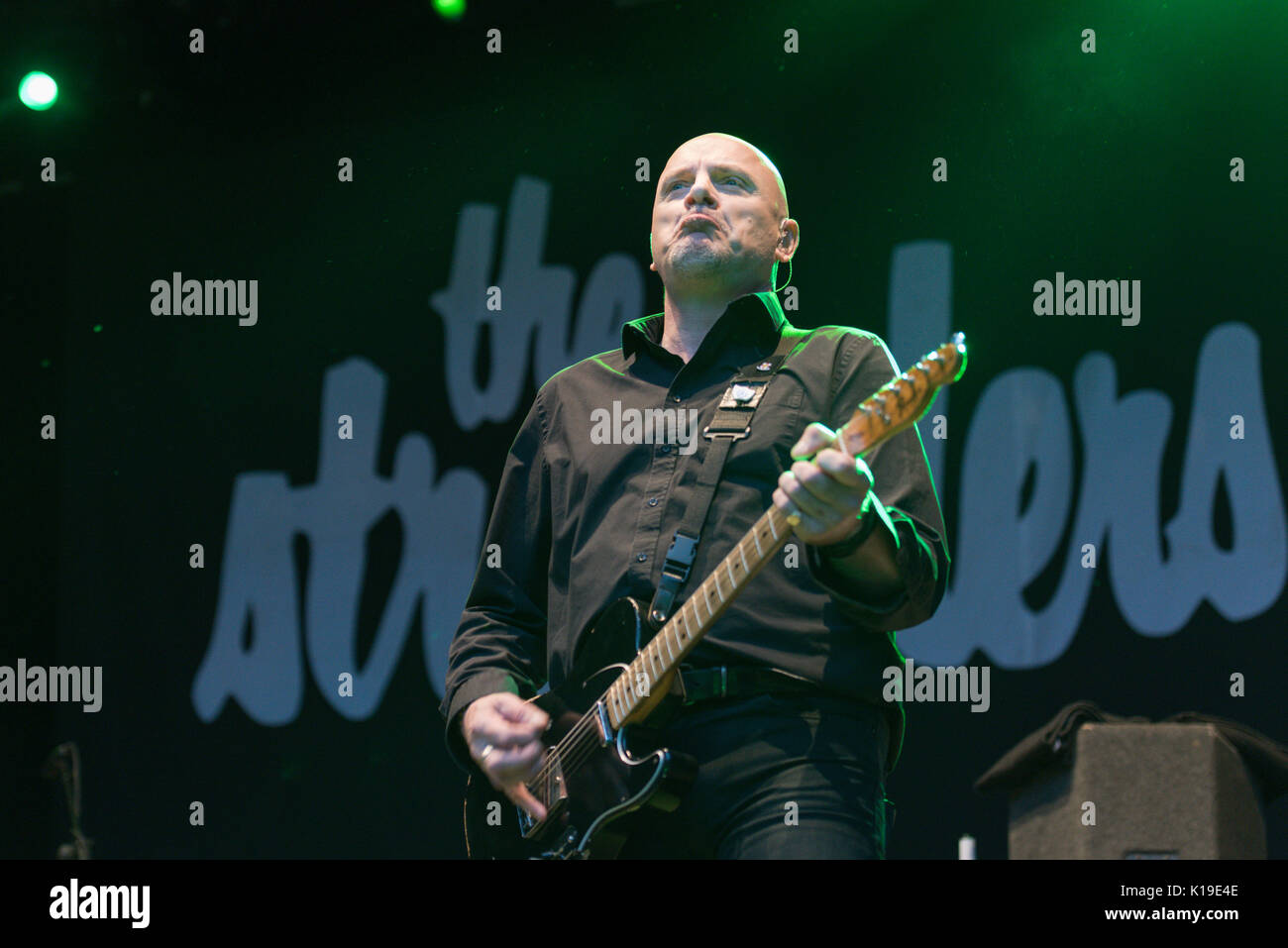 "Belfast, Northern Ireland. 26/08/2017 - Punk band ""The Stranglers"" play Custom House Square Stock Photo"