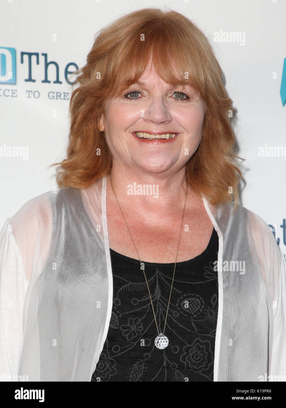 Hollywood, Ca. 26th Aug, 2017. Lesley Nicol, At WordTheatre Presents 'In The Cosmos' Where We Come From, Where We Are, And Where We Are Going' At John Anson Ford Amphitheatre In California on August 26, 2017. Credit: Fs/Media Punch/Alamy Live News - Stock Image