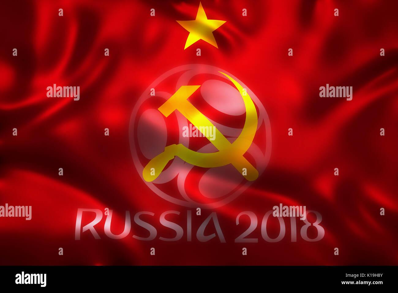 3d rendering of flag for world football 2018 wallpaper world soccer K19H8Y