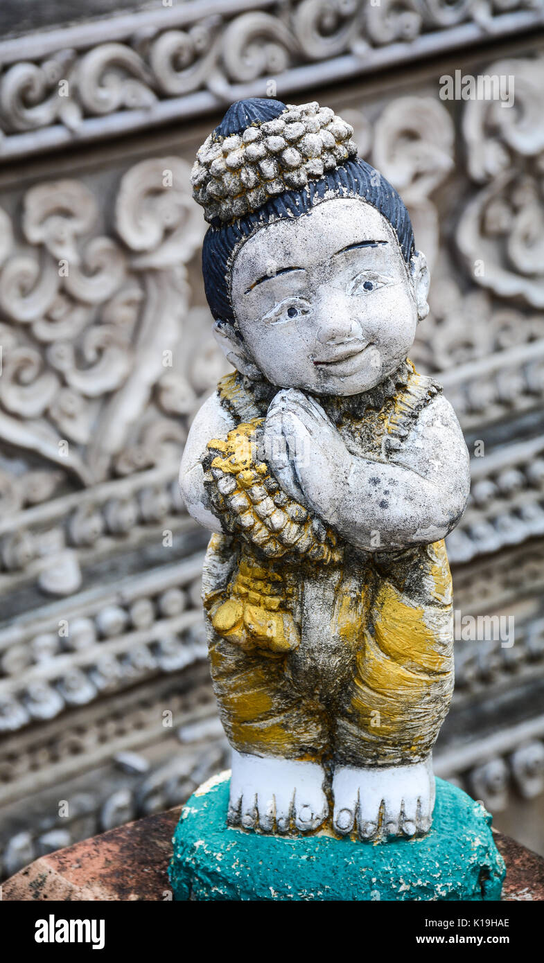 Cute statue for decoration at an ancient temple in Chiang Mai, Thailand. - Stock Image