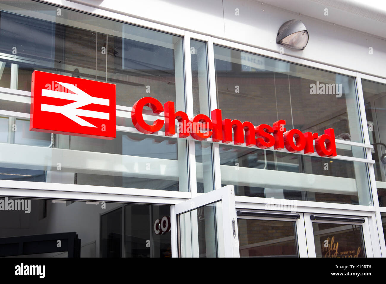 Chelmsford train station sign - Stock Image