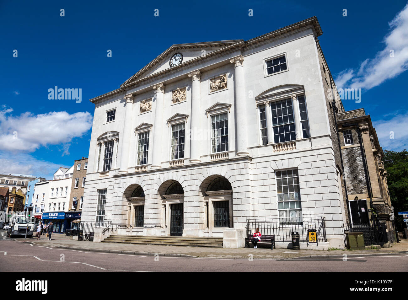 Shire Hall (old town hall) former Magistrates Court, Chelmsford, Essex, UK - Stock Image
