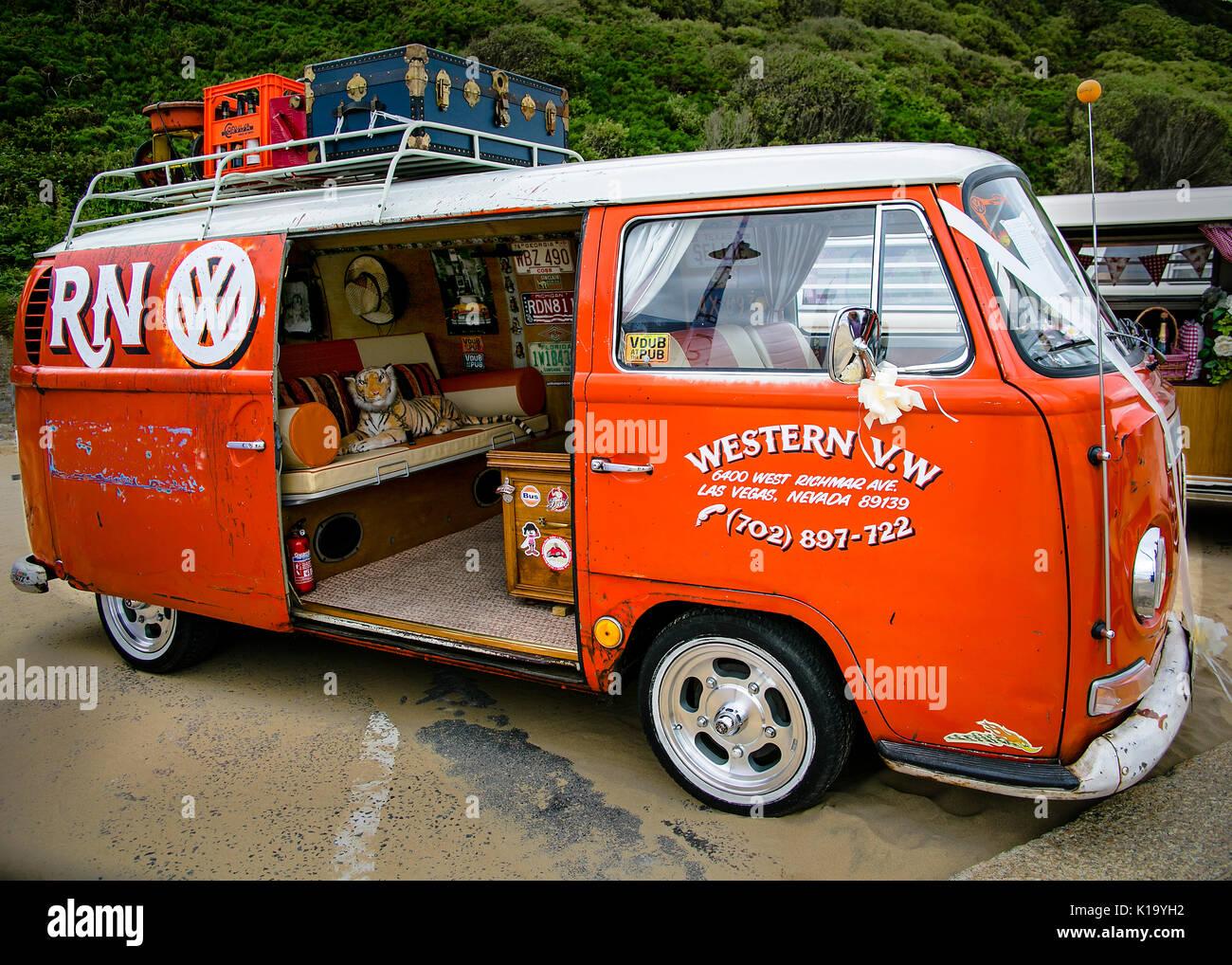 e317a2bc31 VW T2 Custom Camper Van Stock Photo  155727182 - Alamy