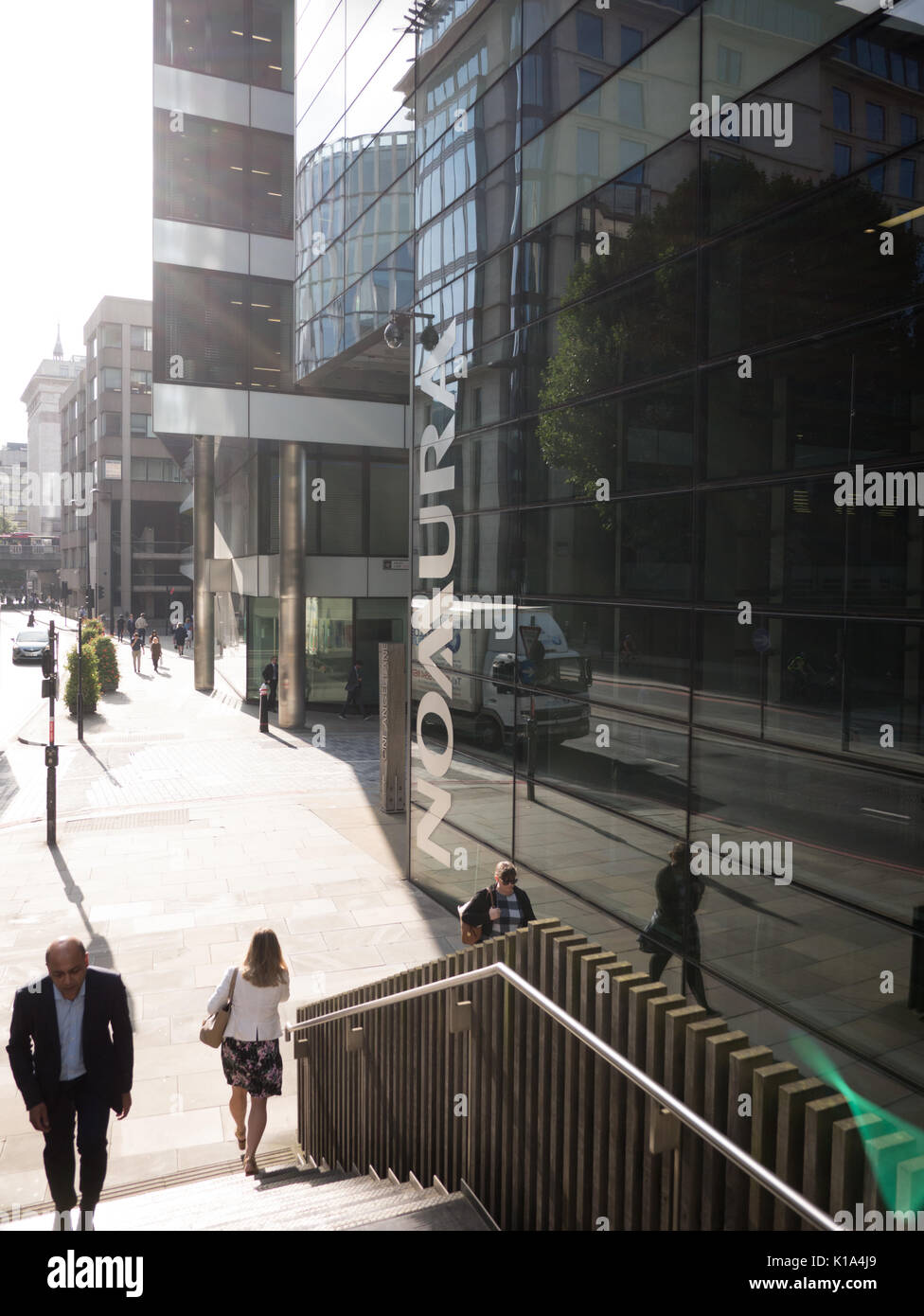Nomura offices London  Japanese financial holding company - Stock Image