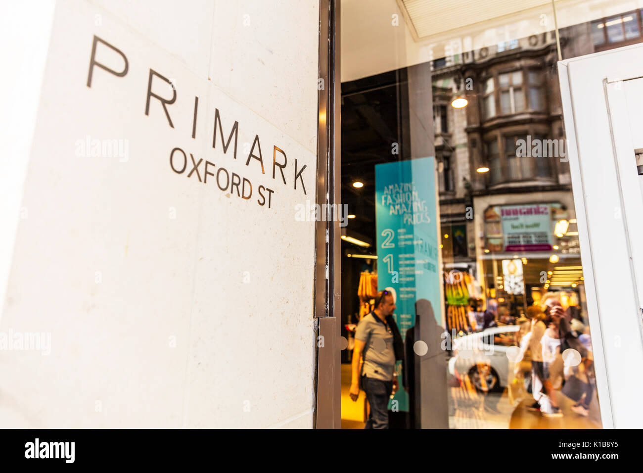 Primark Oxford Street, Primark Oxford Street London UK, Primark discount clothes shop, Primark, Primark UK England, Oxford Street shops, Primark UK - Stock Image