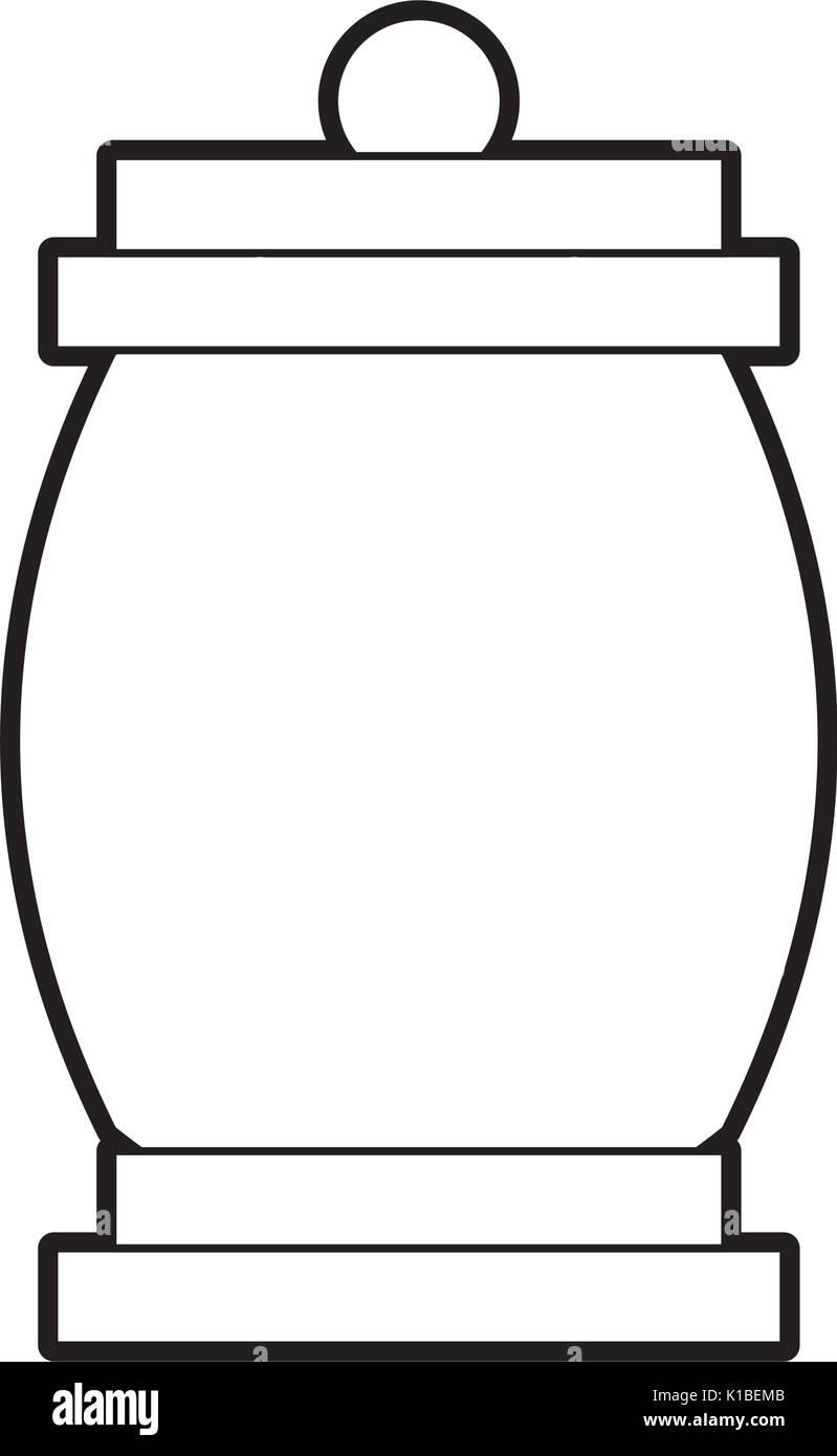 lantern camping isolated icon - Stock Image