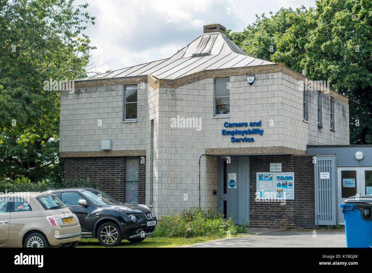 Careers and Employability Service Building,,University of Kent,UKC,Canterbury,Kent,England - Stock Image