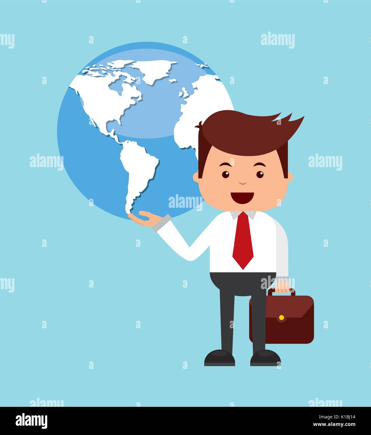 global economy design  - Stock Image