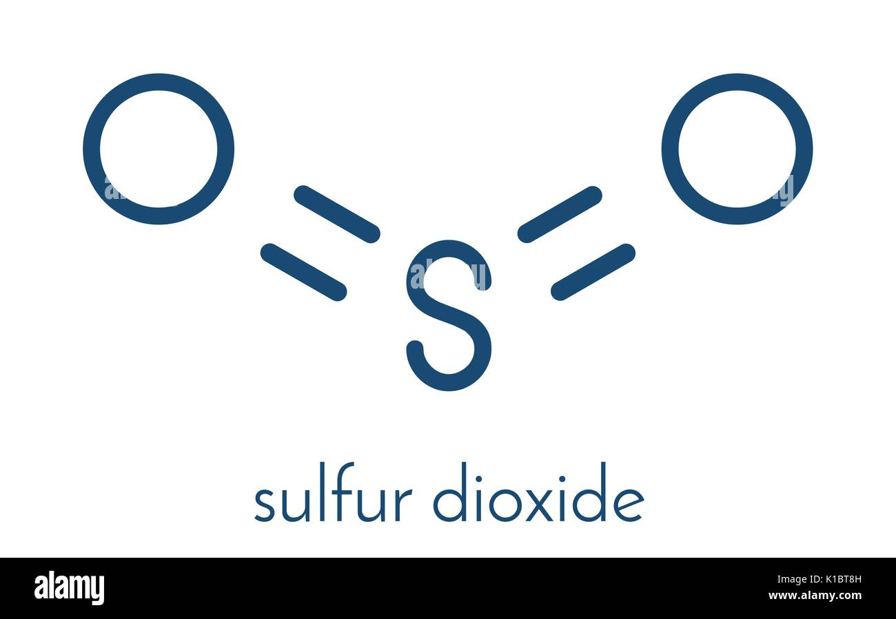 Sulfur Dioxide Food Preservative Molecule E220 Also Used In Stock