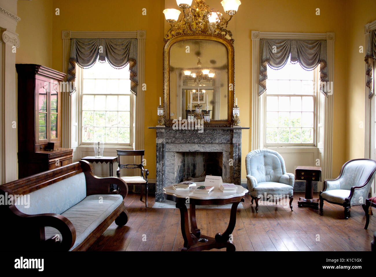 Formal living room of the Beauregard-Keyes house.  French Quarter, New Orleans, LA. - Stock Image