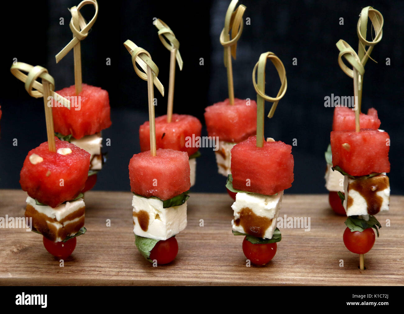 Watermelon Feta Salad Hors d'oeuvres - Stock Image