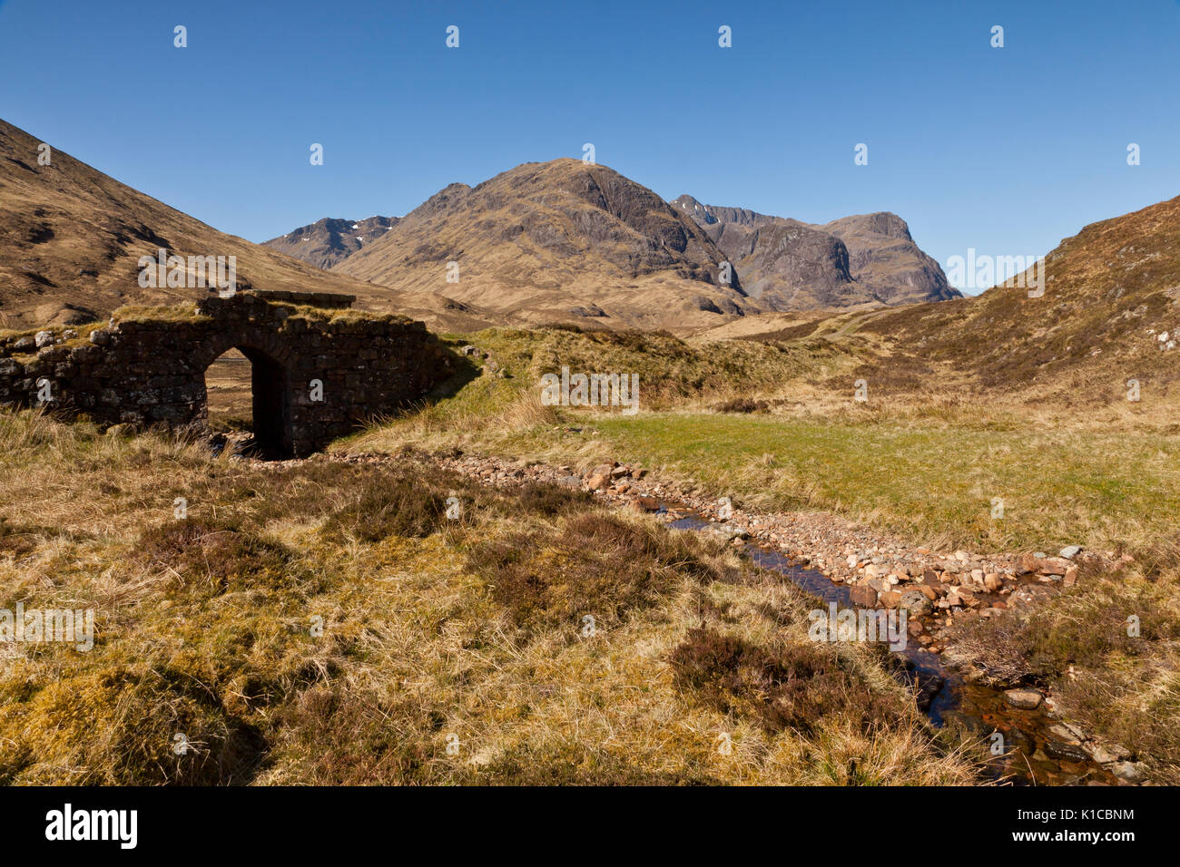 The Three sisters of Glencoe, Scotland, UK - Stock Image