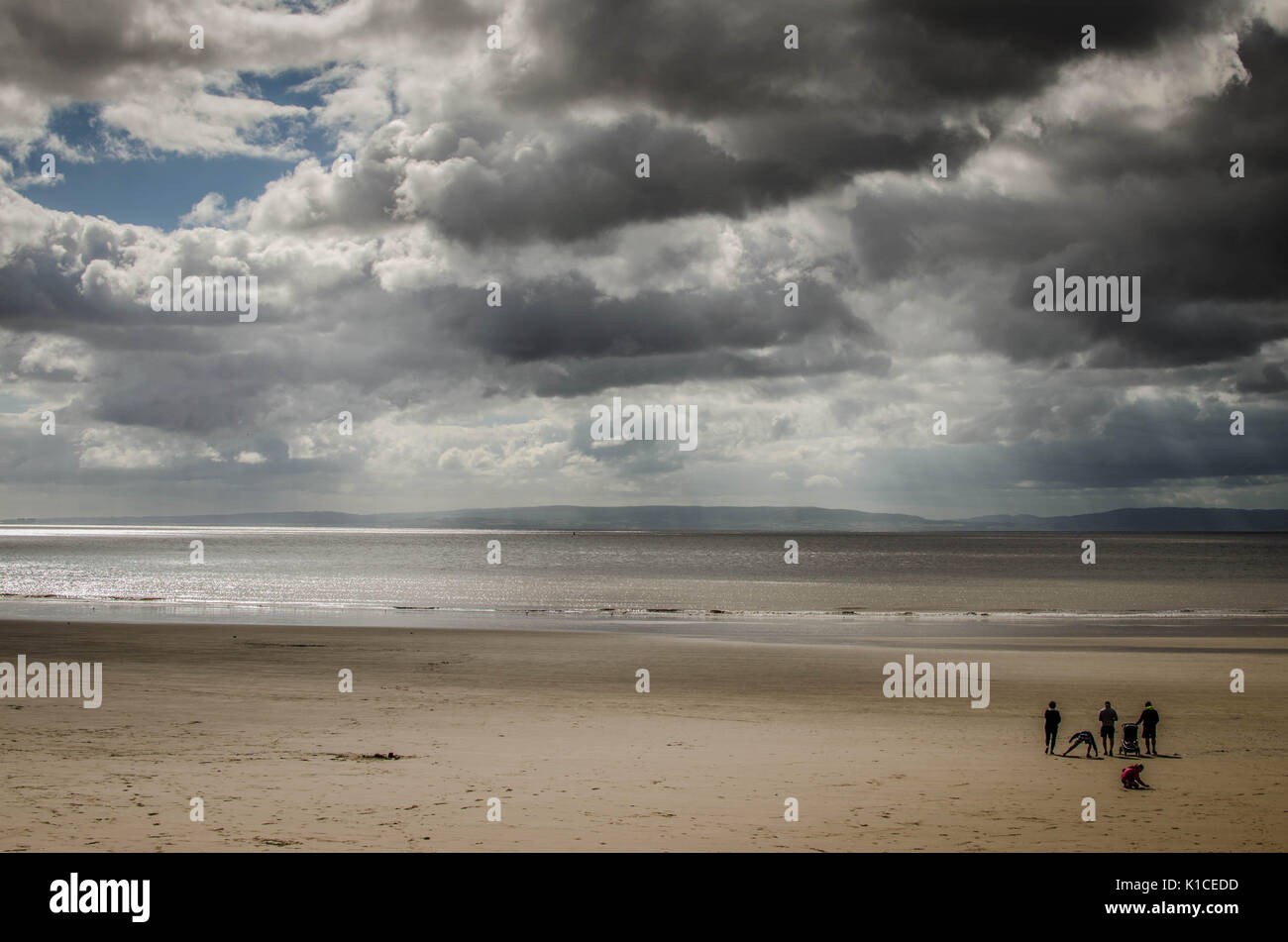 The beach at Whitmore Bay, Barry Island, Vale of Glamorgan, Wales. Stock Photo