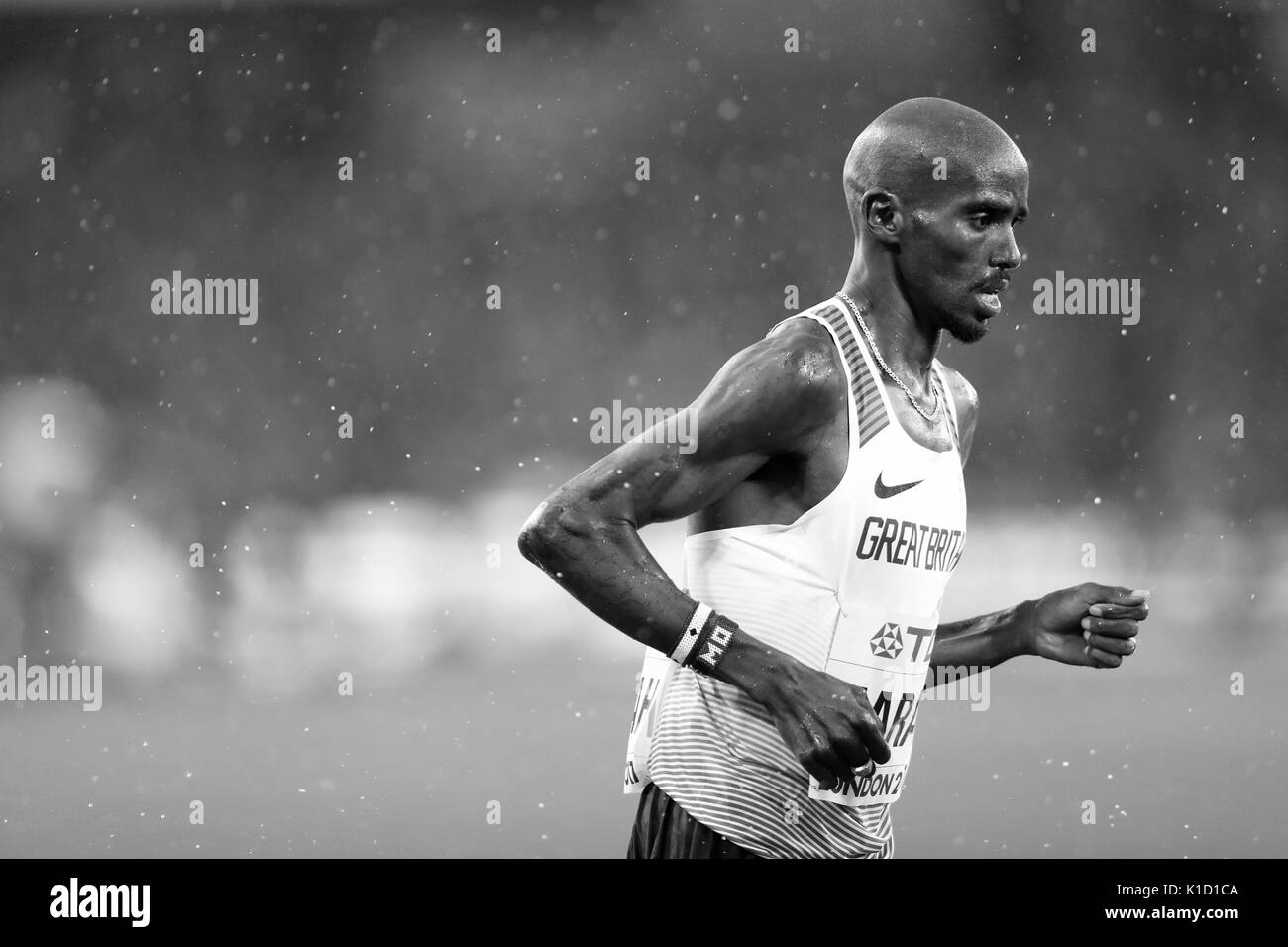 Mo FARAH (Great Britain) competing in the Men's 5000m Heat 1 at the 2017, IAAF World Championships, Queen Elizabeth Olympic Park, Stratford, London, UK. - Stock Image