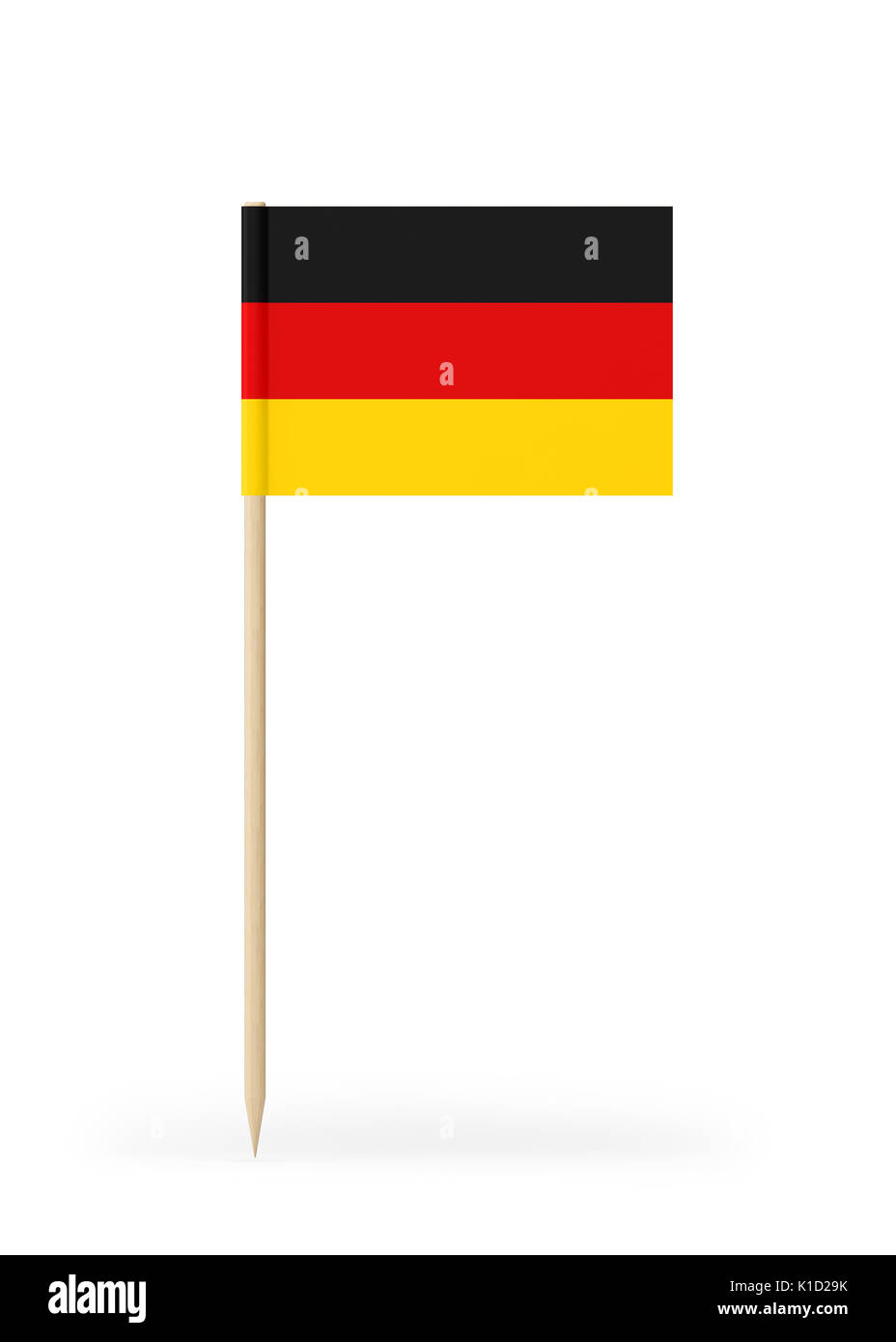 Small German Flag On A Toothpick The Flag Has Nicely Detailed Paper
