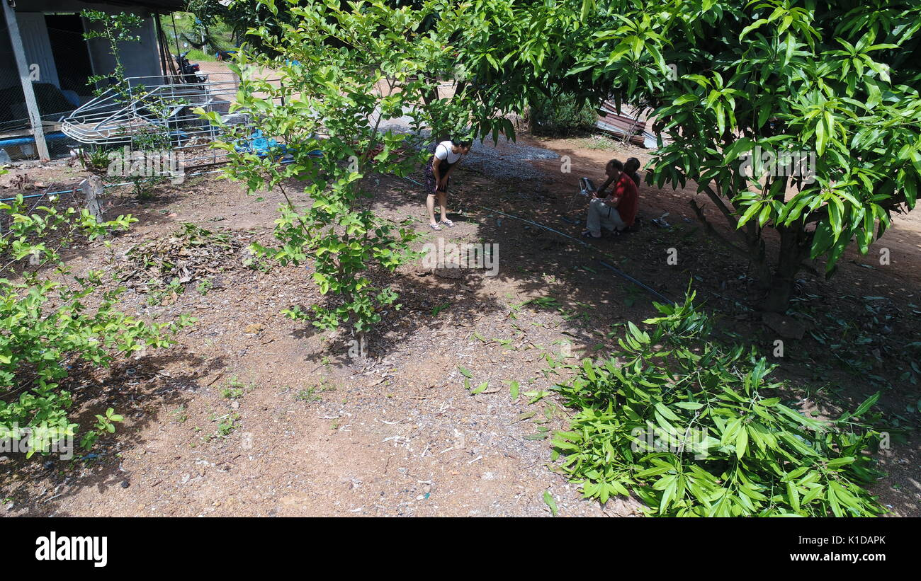 Drone Flying in Thailand - Stock Image