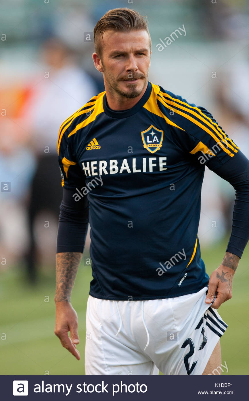 c70d40447 David Beckham. David Beckham warms up before the MLS game between the Los  Angeles Galaxy and the San Jose Earthquakes at the Home Depot Center in  Carson