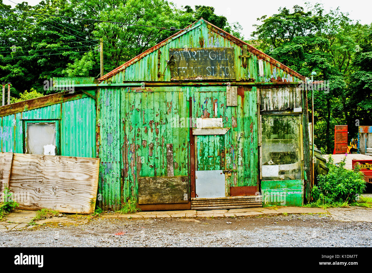 Swathgill Service station, Garsdale, Cumbria - Stock Image