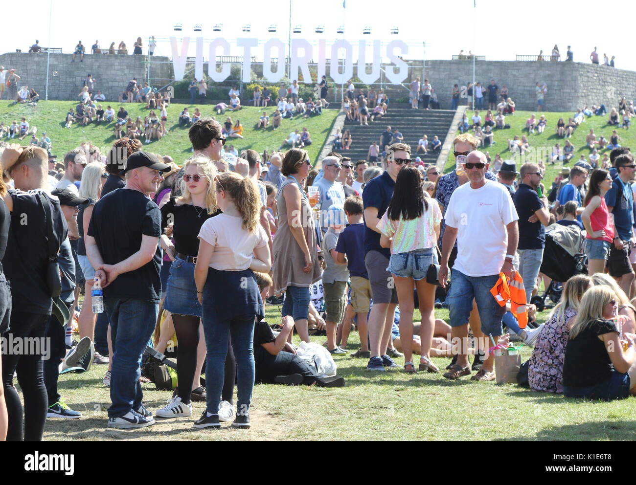 Portsmouth, UK. 26th Aug, 2017. Police in attendance at Victorious Festival at Southsea seafront, Portsmouth, Hants Stock Photo