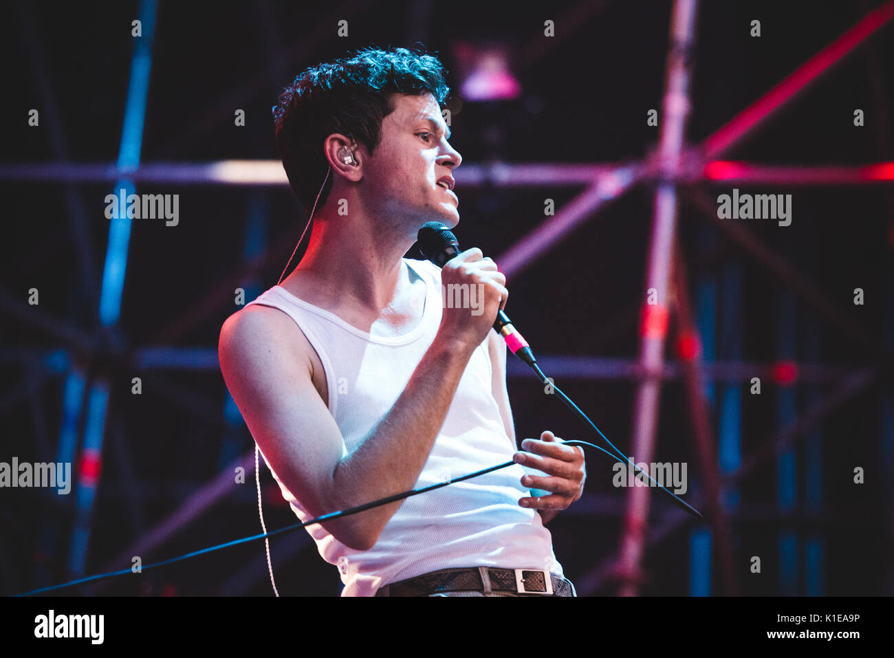 Torino, Italy. 26th Aug, 2017: Perfume Genius performing live on stage at the TODays Festival in Torino Credit: Stock Photo