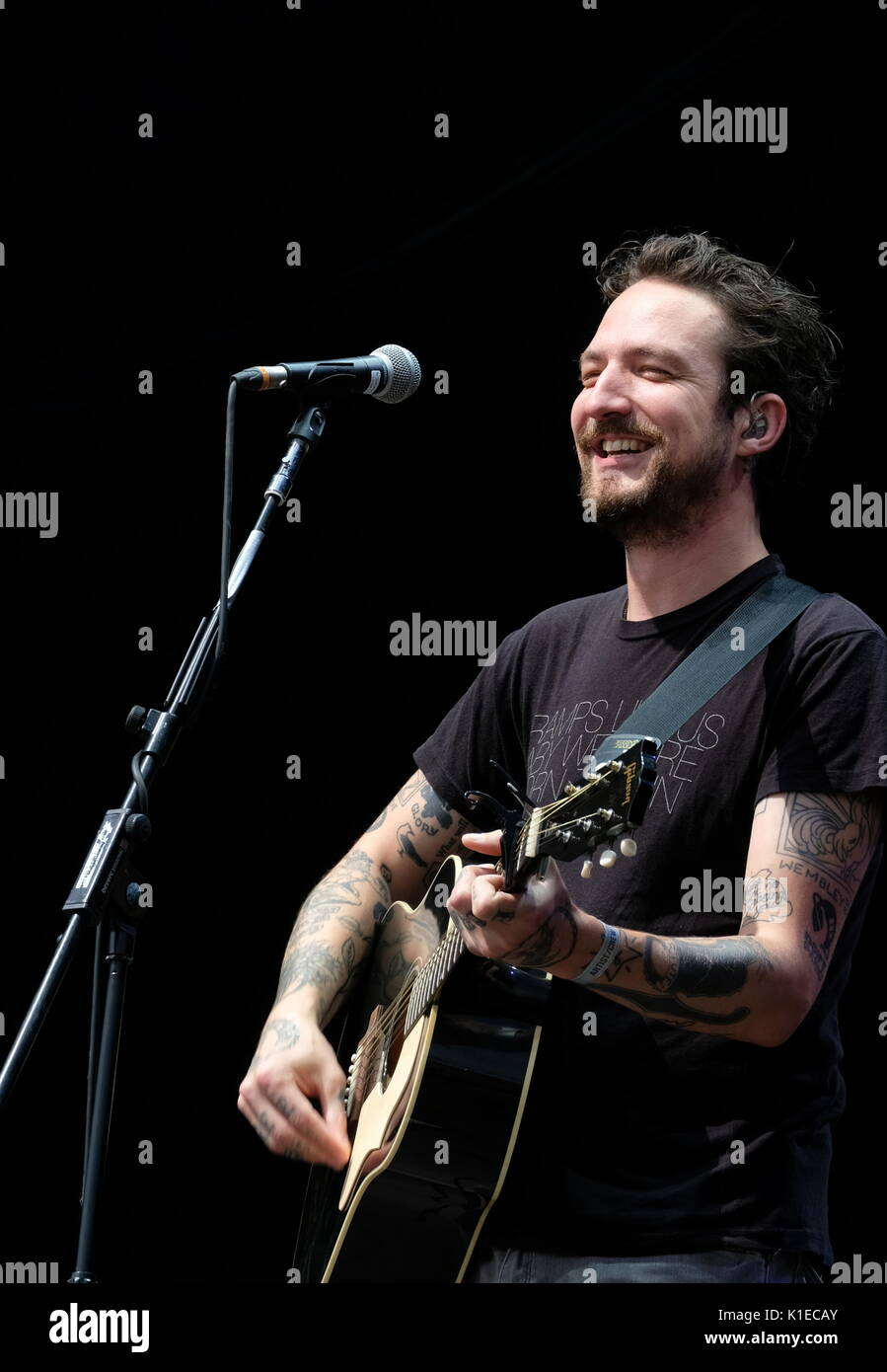 Clarence Esplanade, Southsea, Hampshire, UK August 26, 2017. Victorious Festival Day 2 -  Frank Turner performing Stock Photo