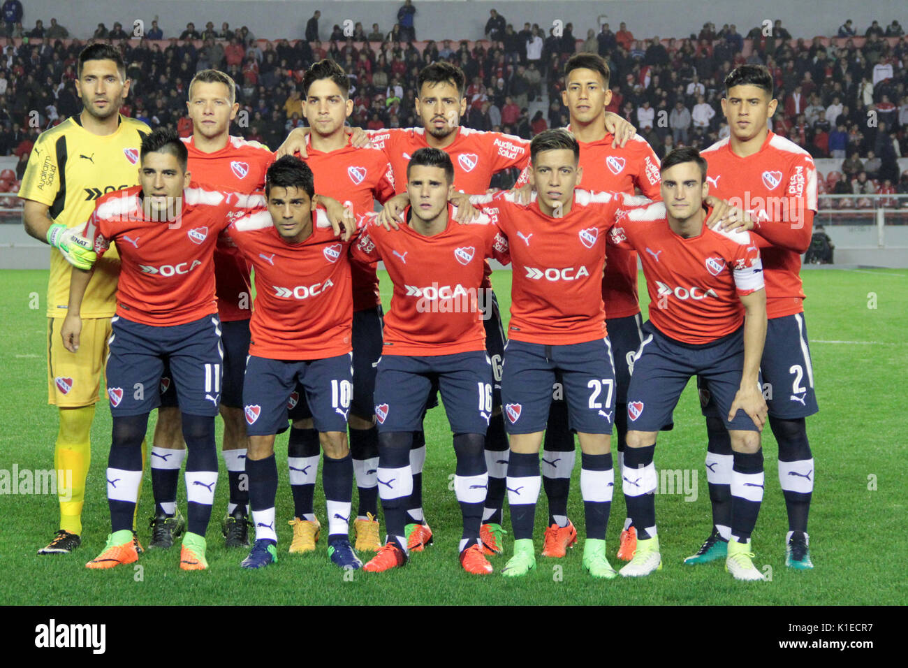 Team of Independiente during the match between Independiente x Huracan for  the 1st round of Superliga Argentina. Credit: Néstor J. Beremblum/Alamy  Live News