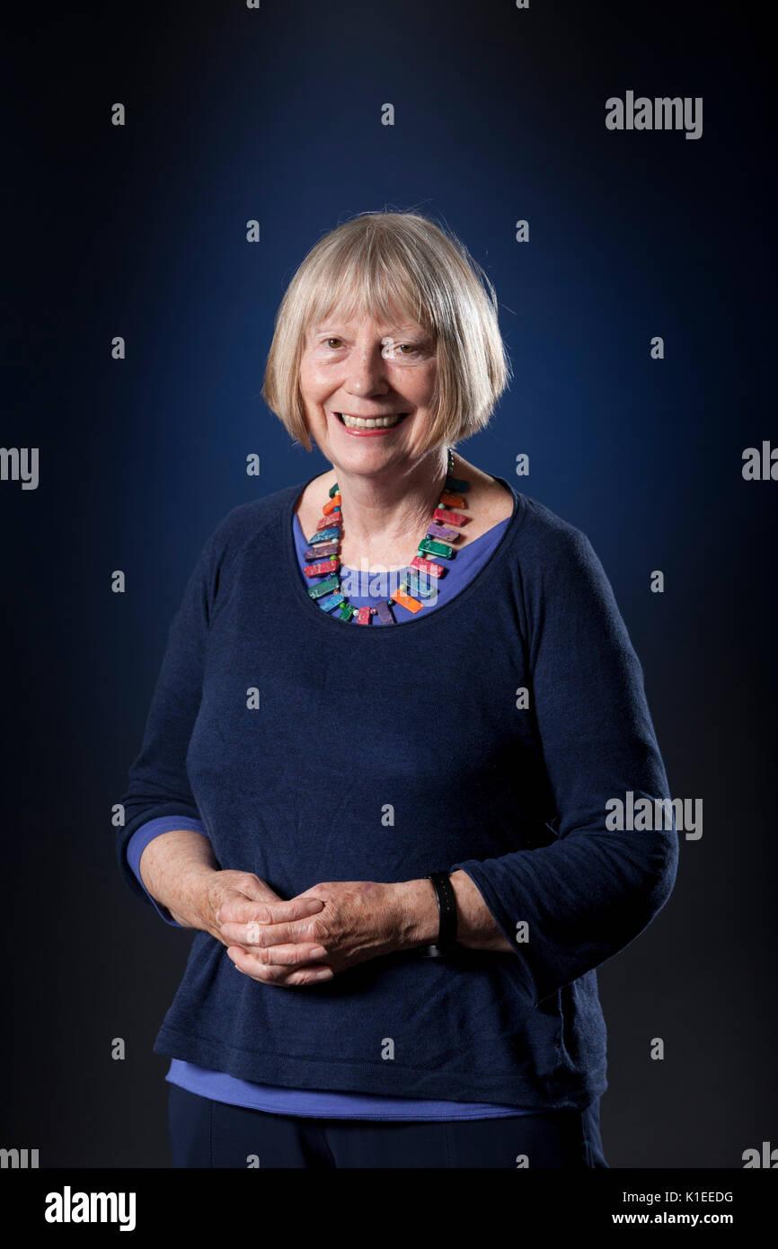 Edinburgh, UK. 27th August 2017. Sheila Rowbotham, the British socialist feminist theorist and writer, appearing at the Edinburgh International Book Festival. Gary Doak / Alamy Live News - Stock Image