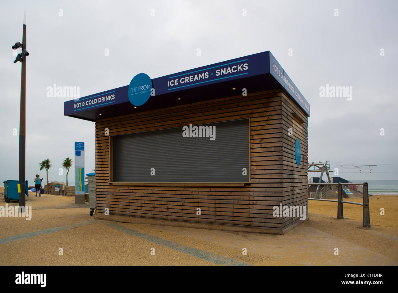 BOURNEMOUTH, UK - AUGUST 22, 2017: The Prom Kiosk on Bournemouth Seafront Stock Photo