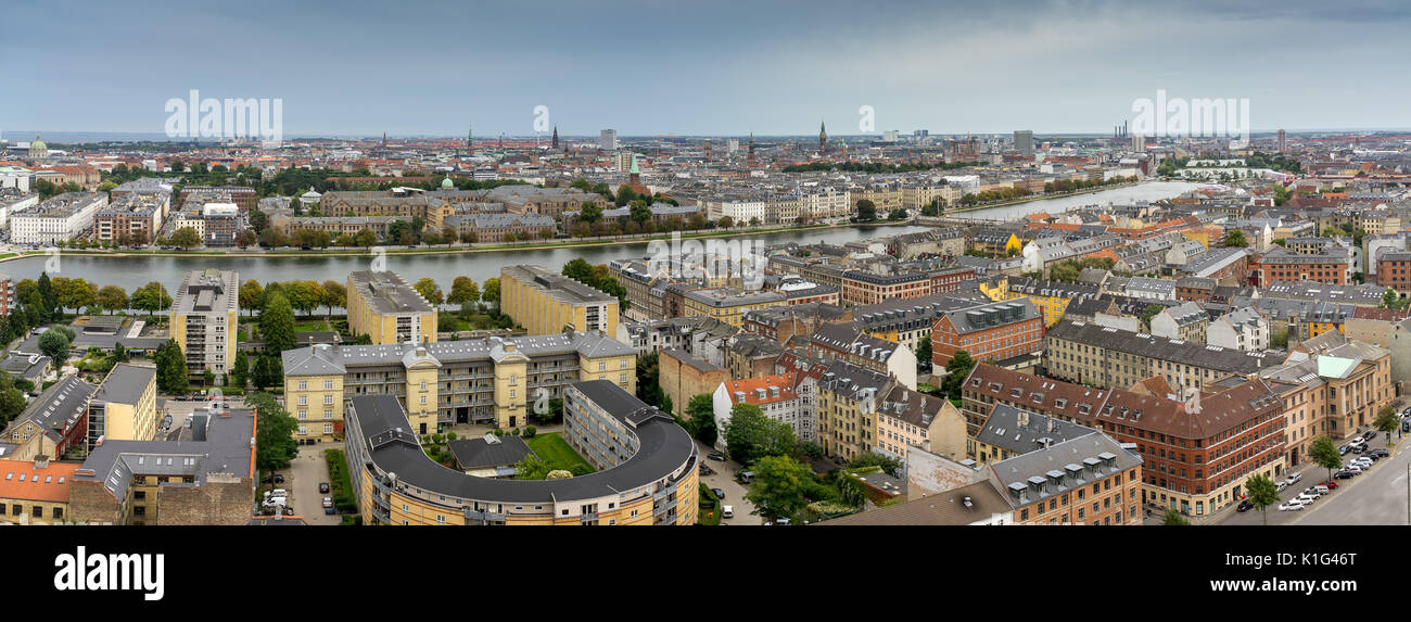 View over the Lakes in Copenhagen, Denmark - Stock Image