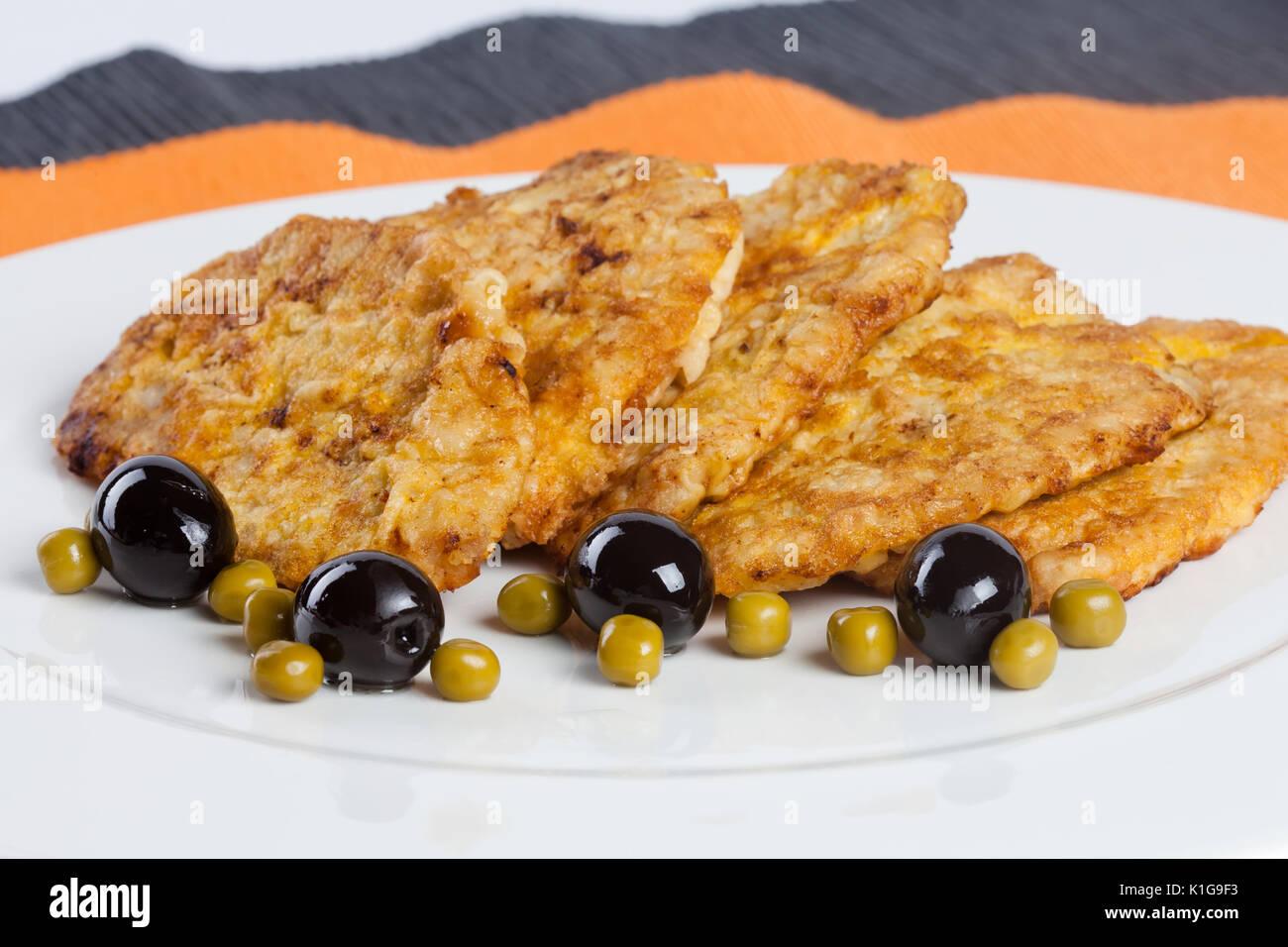 chicken fried steak  - Stock Image