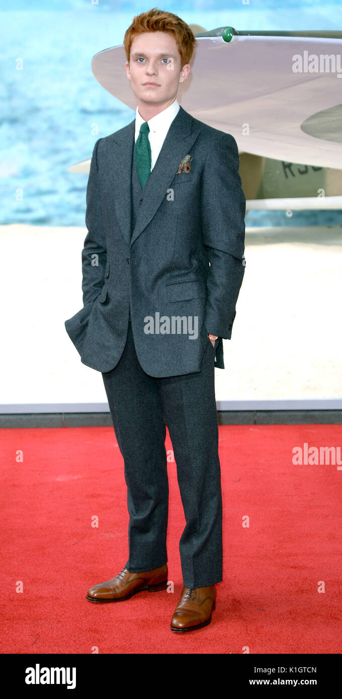Photo Must Be Credited ©Alpha Press 078237 13/07/2017 Tom Glynn-Carney at the Dunkirk World Movie Premiere at Odeon Leicester Square in London - Stock Image