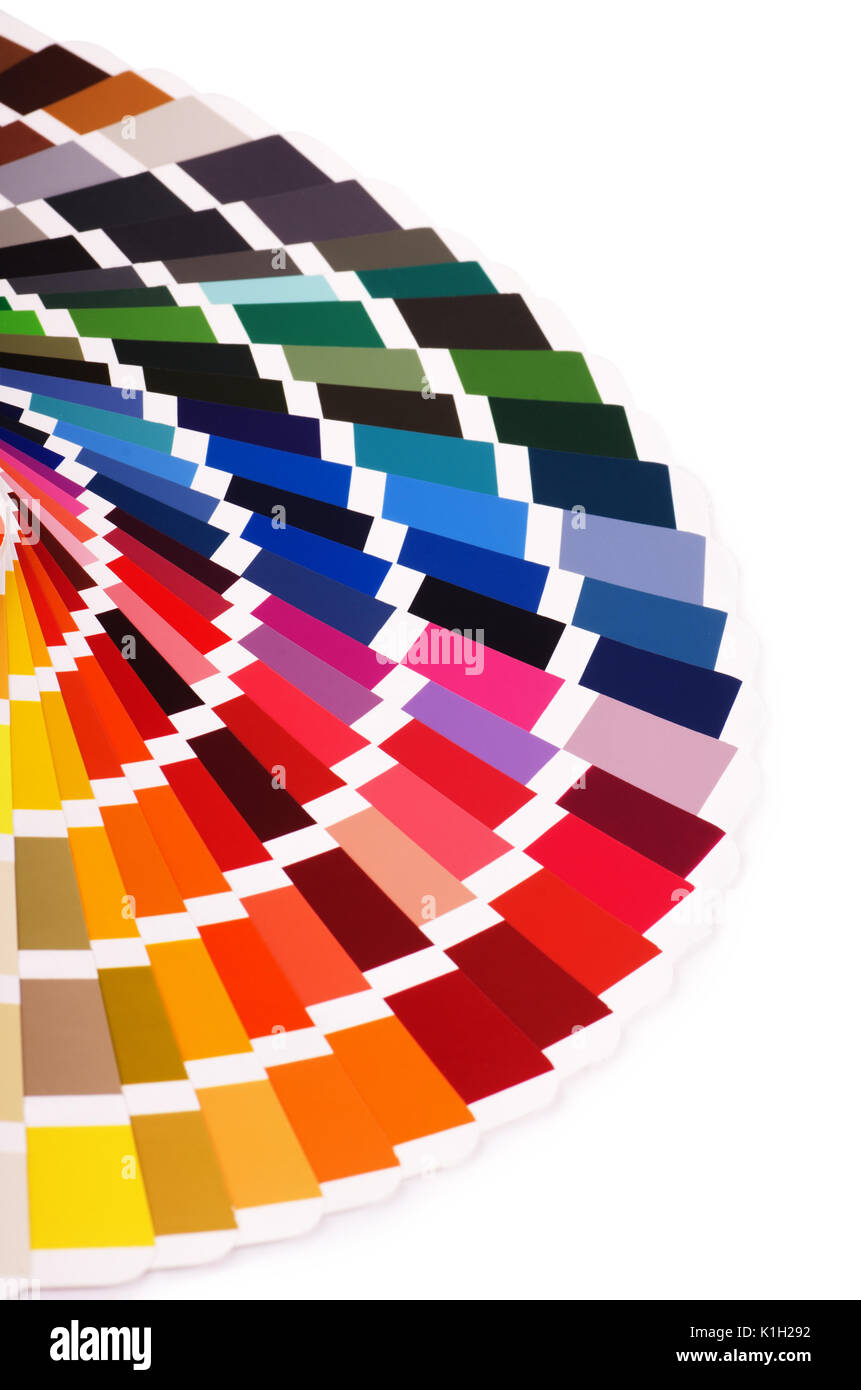 Color palette, guide of paint samples catalog, color chart isolated ...
