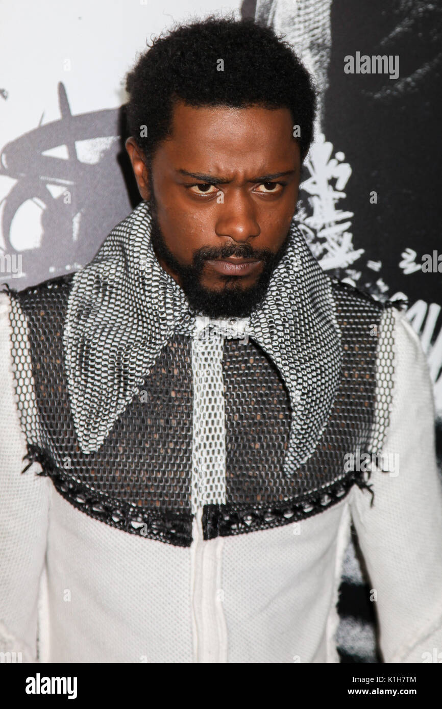 NEW YORK, NY - AUGUST 17: Actor Lakeith Stanfield attends the 'Death Note' New York premiere at AMC Loews Lincoln Square 13 theater on August 17, 2017 - Stock Image