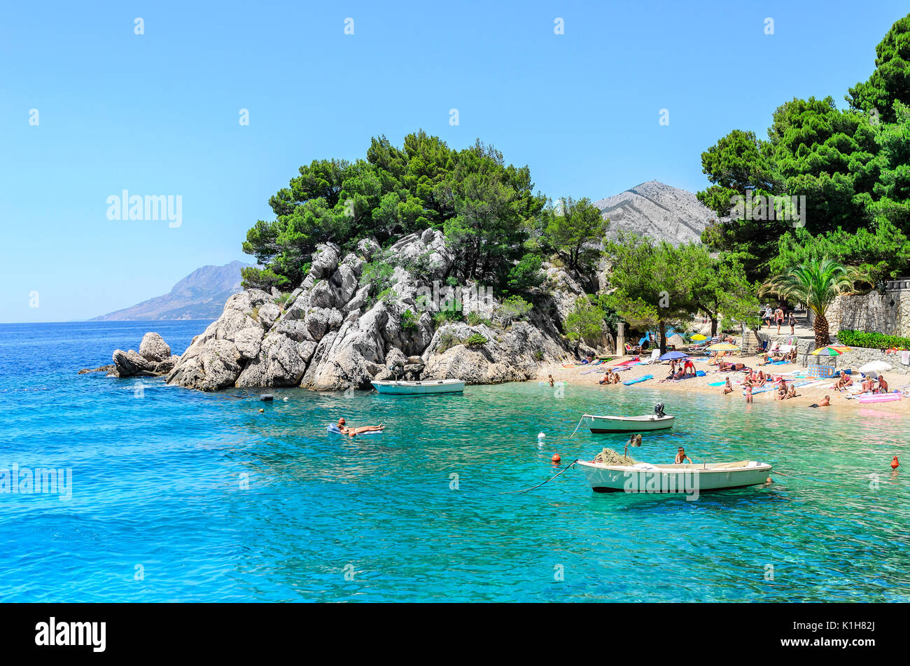 Sea coast of Brela, Croatia. - Stock Image