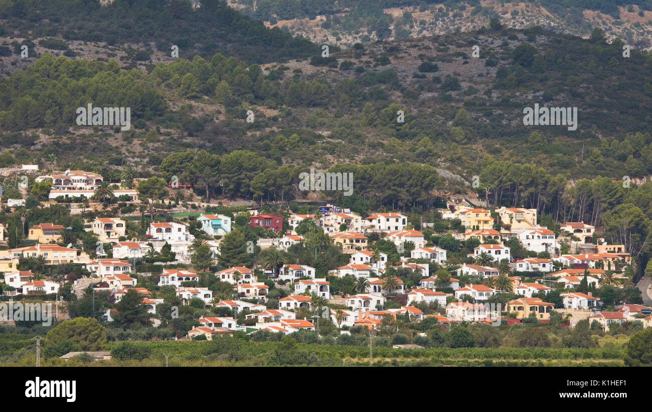 Villa urbanisation near Orba, Valencia, Spain - Stock Image