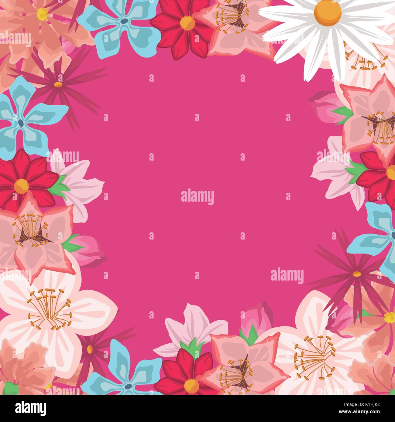 Decorative Black Flower Border Stock Image: Delicate Border Stock Photos & Delicate Border Stock