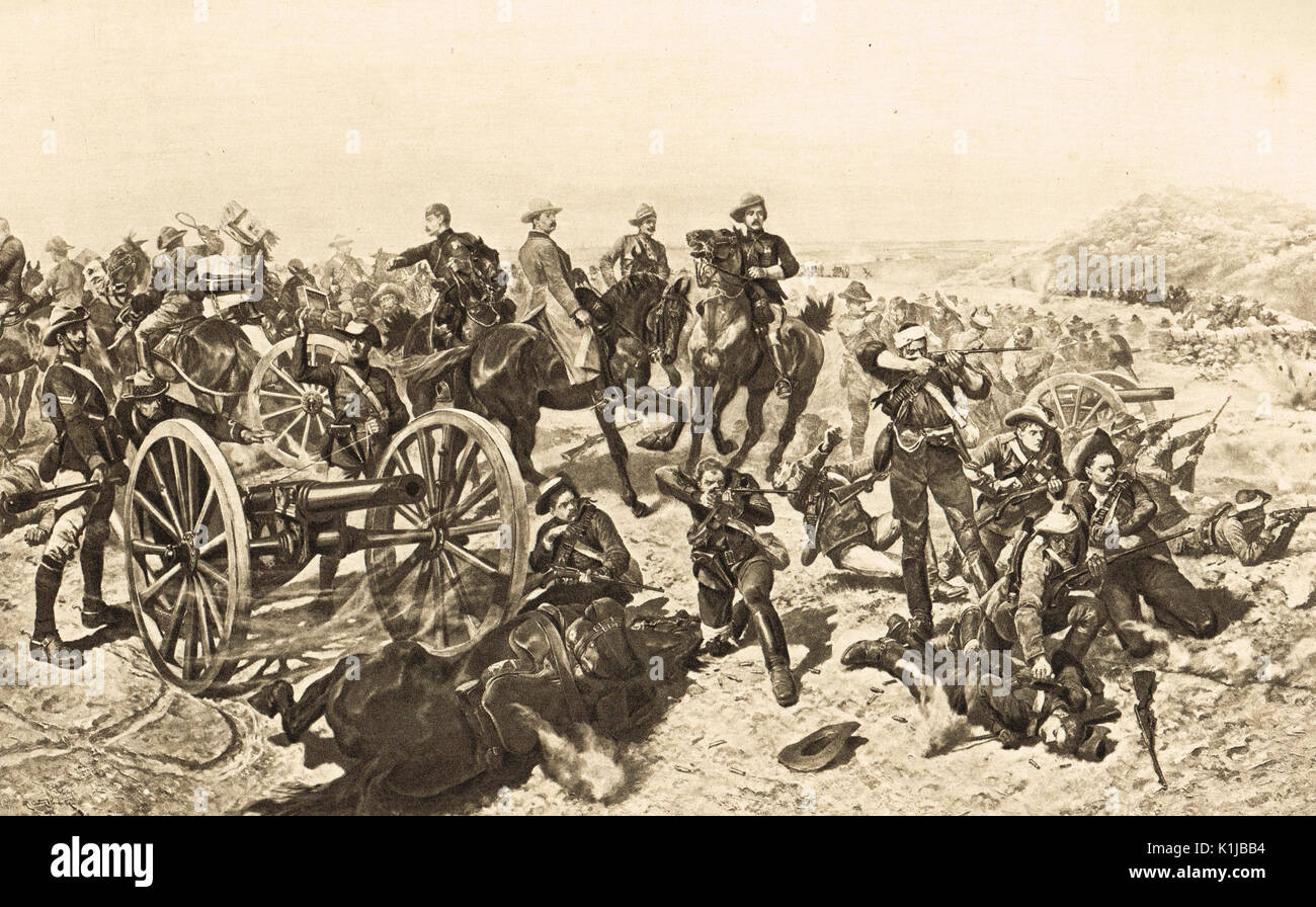 Jameson's last stand, Doornkop, 2 January 1896 (The Jameson Raid) - Stock Image