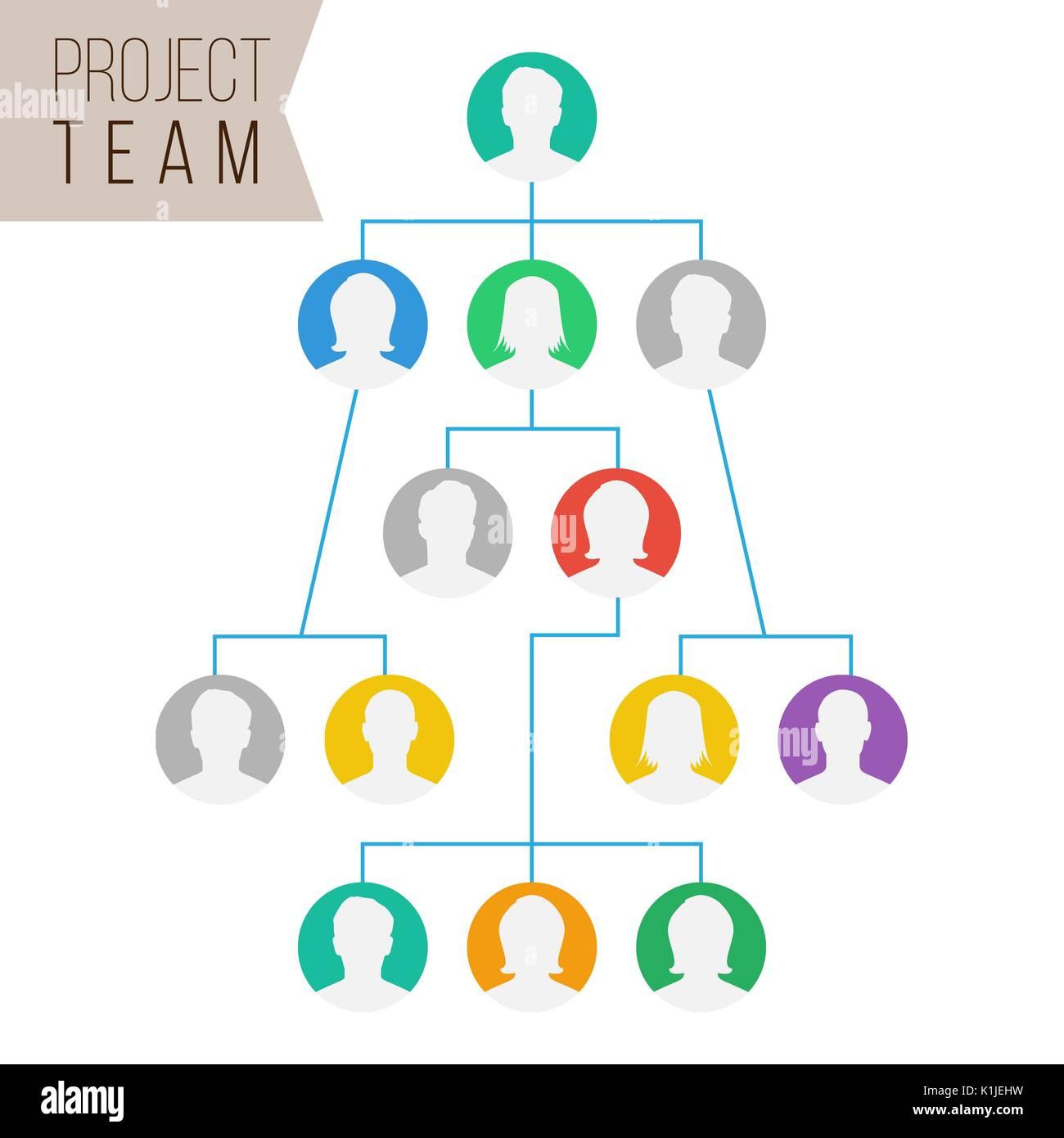 Project Team Vector  Employee Group Organization  Flat Default Stock