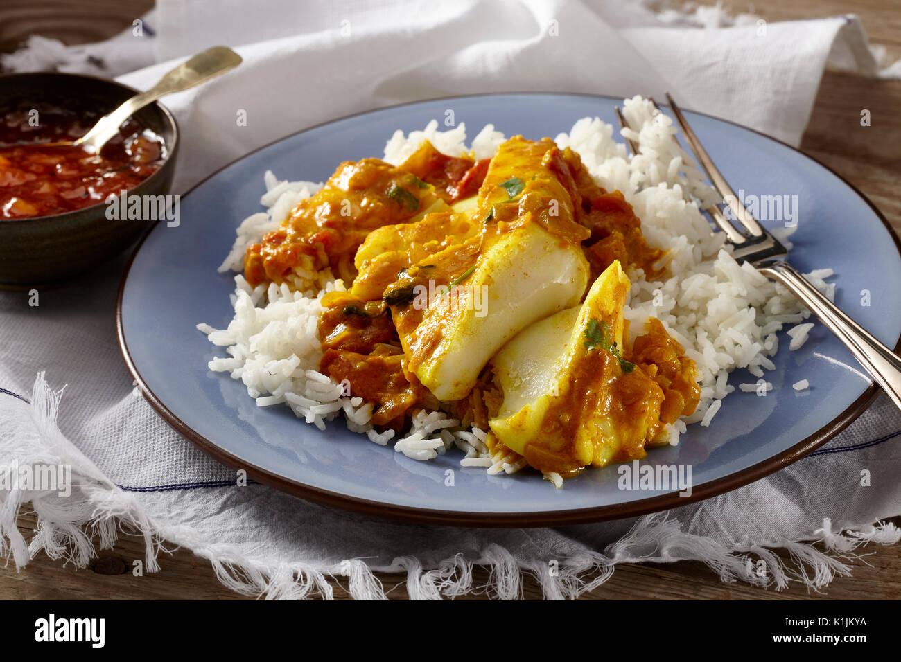 Keralan fish curry - Stock Image
