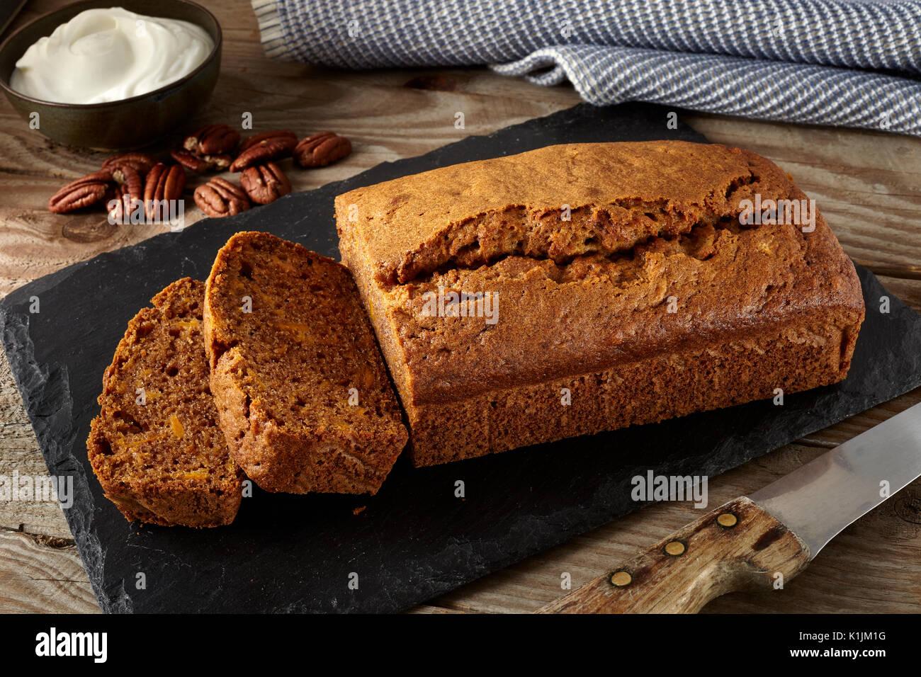 Sweet potato pound cake - Stock Image