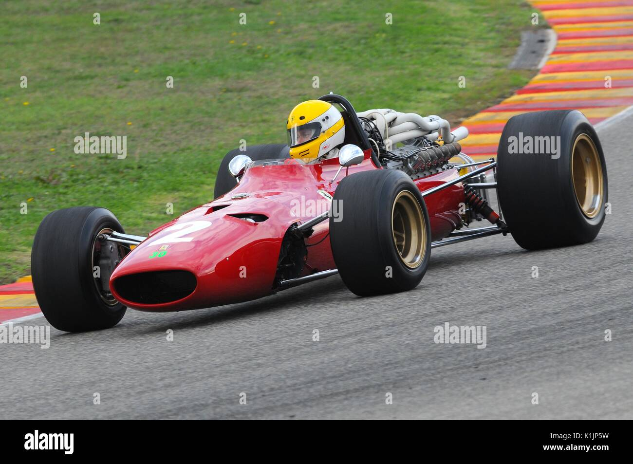 MUGELLO, IT, November, 2008: Unknown Run With Old 1960s Ferrari F1 At