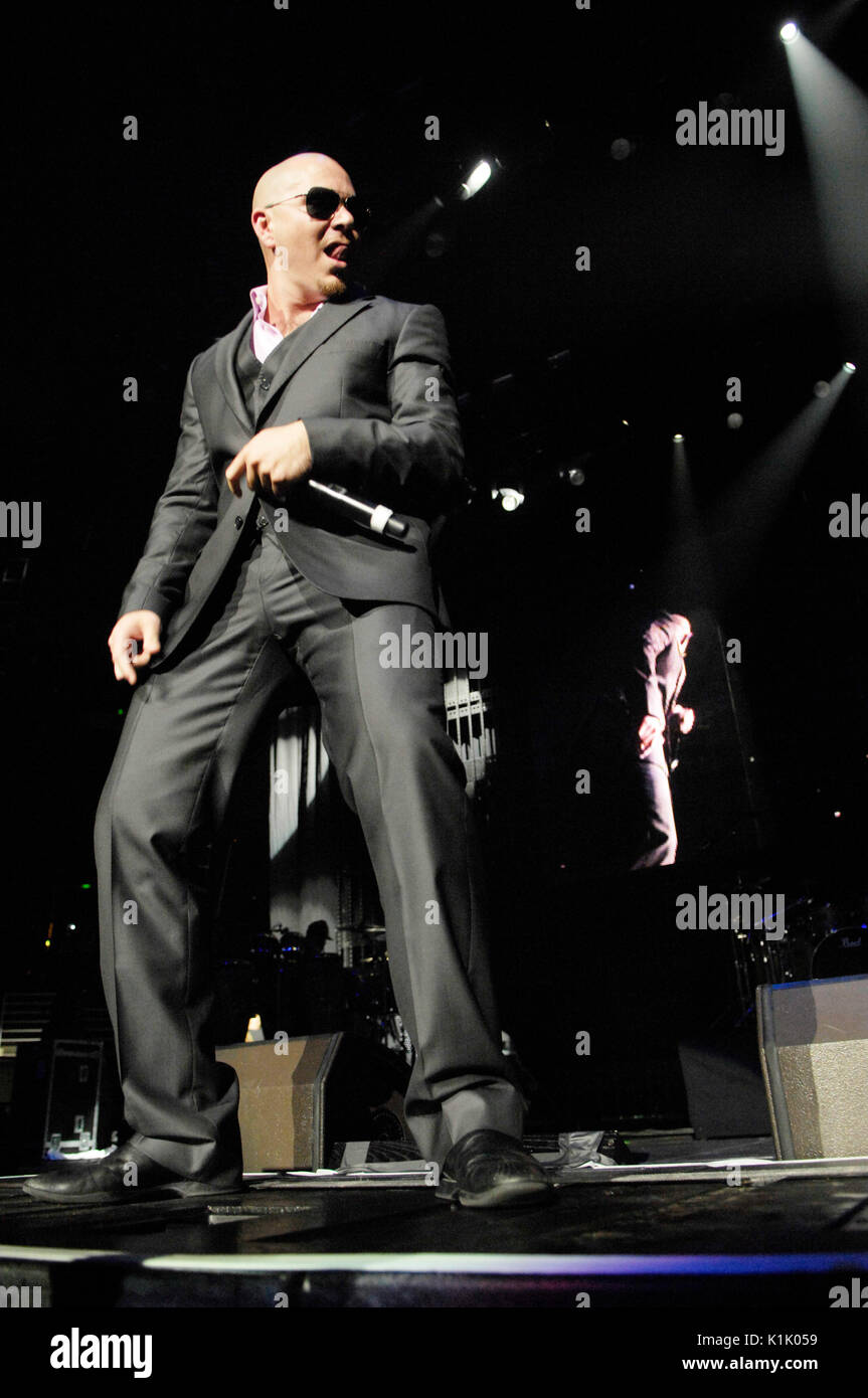 Pitbull performing 2009 Power 106 Powerhouse Honda Center August 8,2009 Anaheim,California. - Stock Image